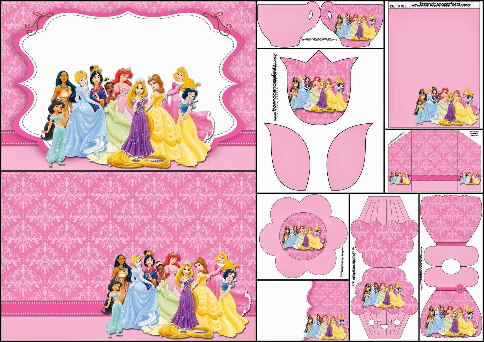 Disney Princess Party: Free Printable Party Invitations. | Oh My - Disney Princess Free Printable Invitations