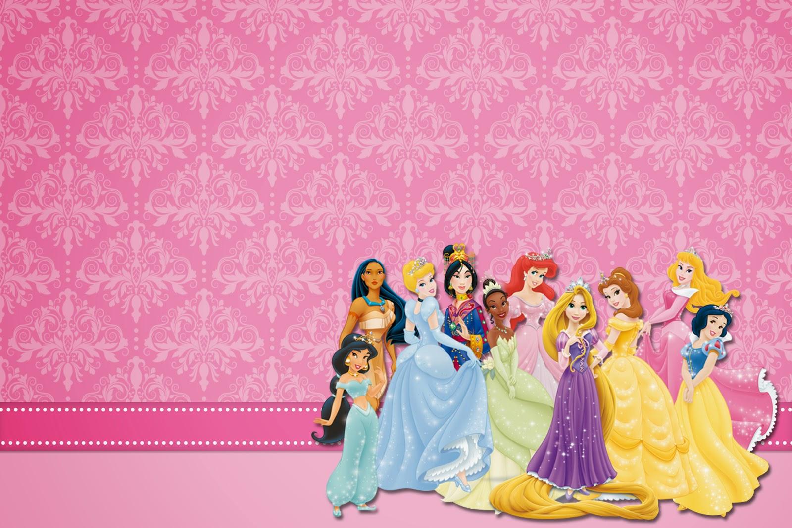 Disney Princess Party: Free Printable Party Invitations. | Oh My - Free Princess Printable Invitations