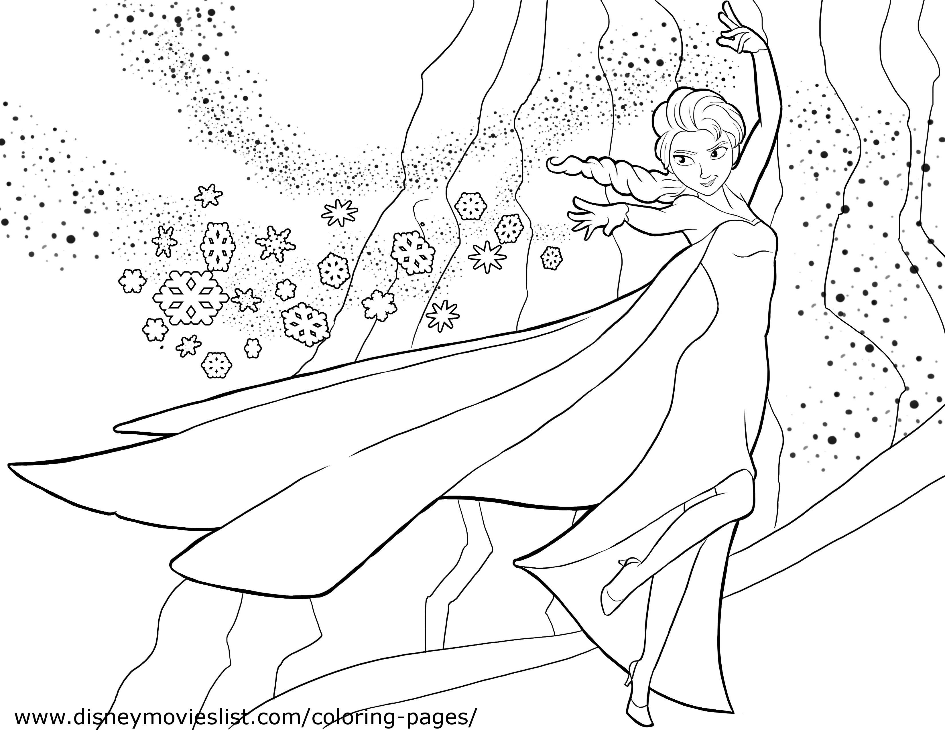 Disney's Frozen Coloring Pages, Free Disney Printable Frozen Color - Free Printable Frozen Coloring Pages