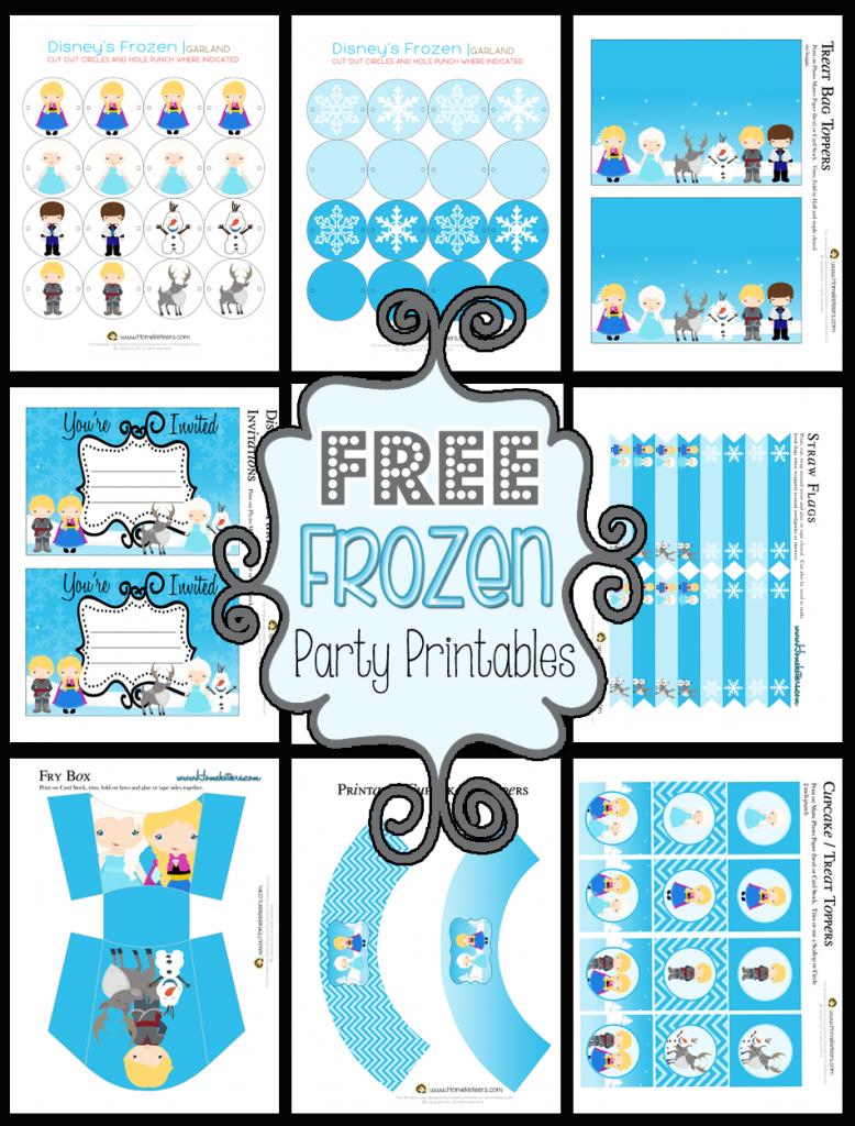 Disney's Frozen Party Printable Set ~ Free - Free Printable Birthday Scrolls