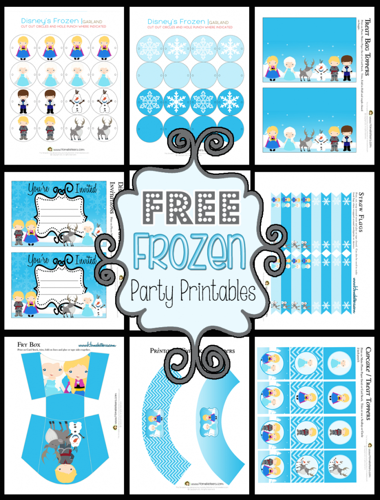 Disney's Frozen Party Printable Set ~ Free - Frozen Birthday Banner Printable Free