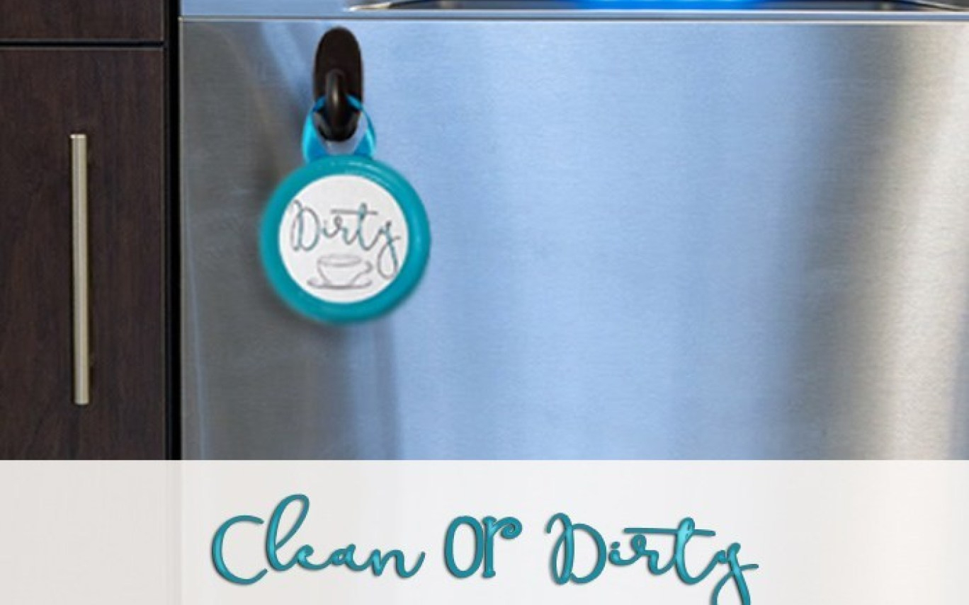 Diy Clean Or Dirty Dishwasher Sign With Free Printable | Hot - Free Printable Clean Dirty Dishwasher Sign