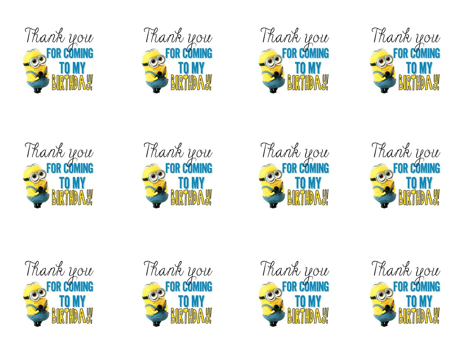 Diy Design Den: Minion Birthday Party With Free Printables. | Minion - Free Printable Minion Food Labels