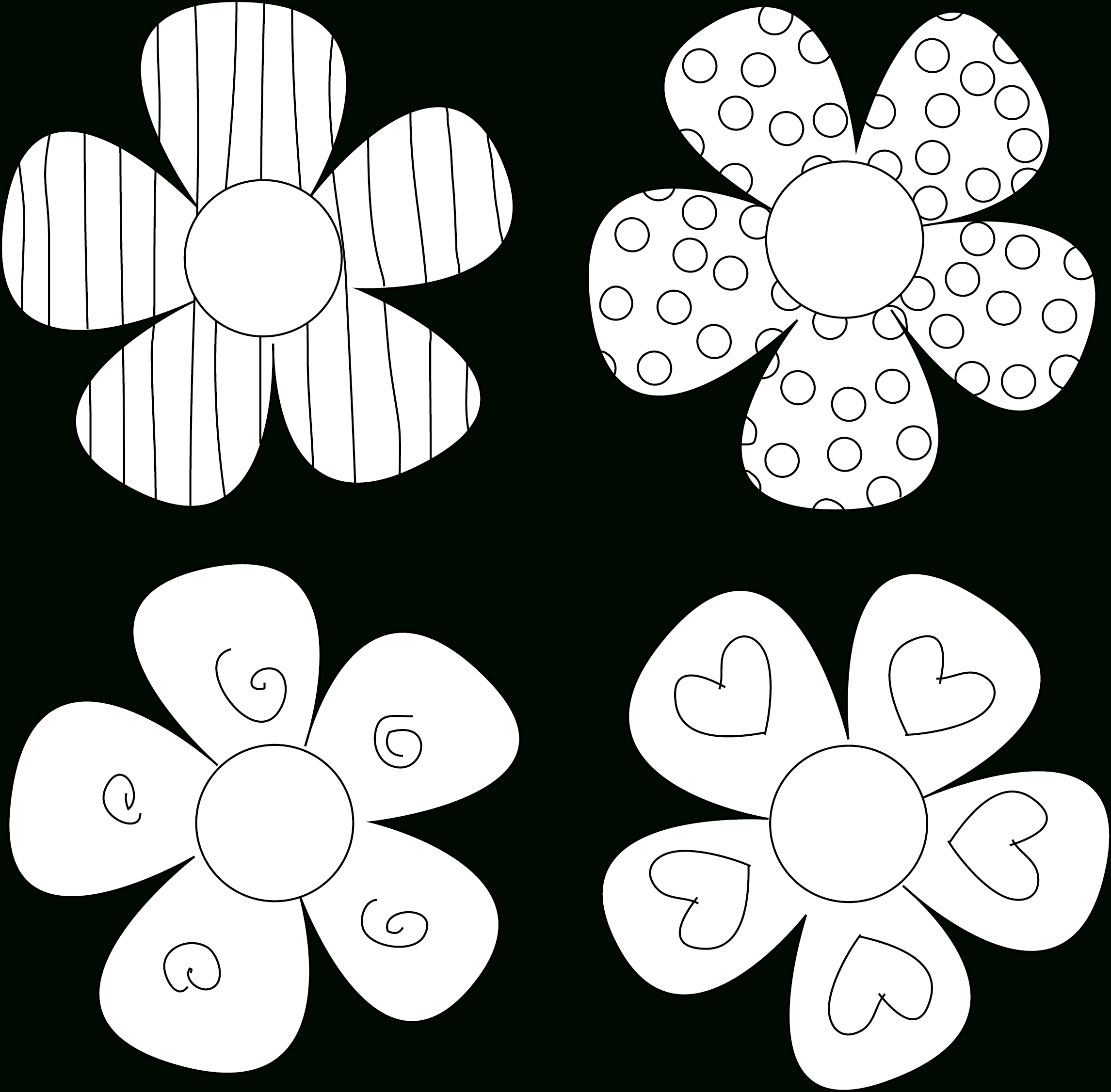 Diy Flower Tutorials You Must Try | 1 | Flower Template, Digital - Printable Tin Punch Patterns Free