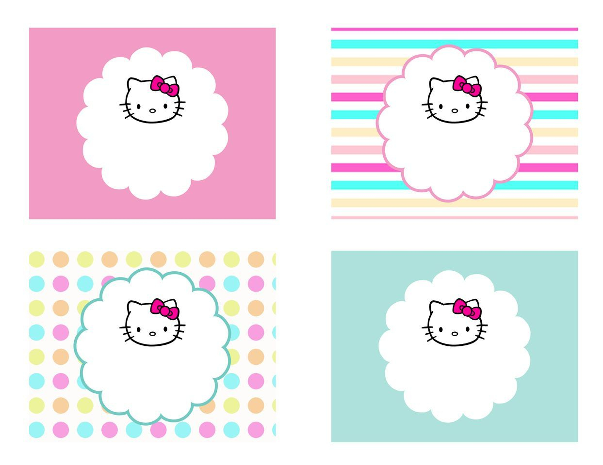 Diy Free Hello Kitty Label | Free Birthday Party Decorations - Hello Kitty Labels Printable Free