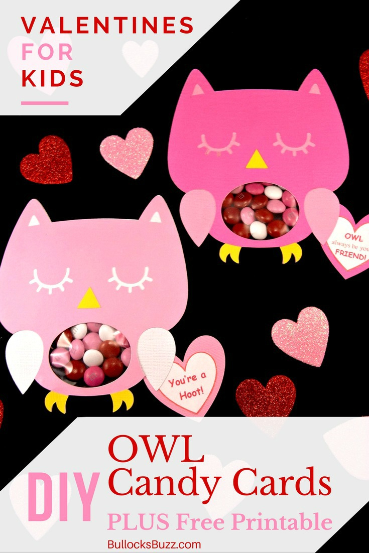 Diy Owl Valentines Candy Cards + Free Printable! Perfect For School - Free Printable Owl Valentine Cards