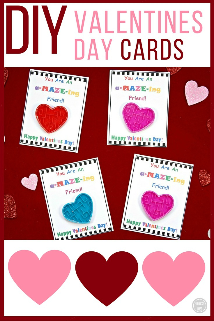 Diy Valentine's Day Cards For Kids With Free Printable! - Bullock's Buzz - Free Printable Valentine Cards For Preschoolers