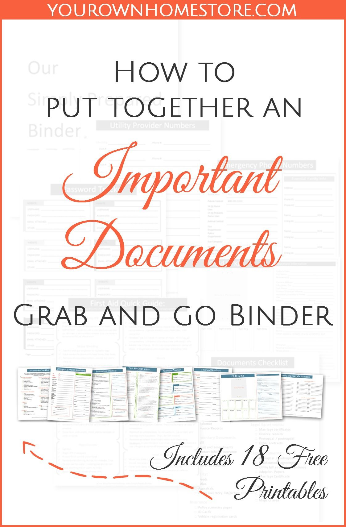 Documents For Emergencies | Evacuation | Put Together A Complete - Free Printable Documents