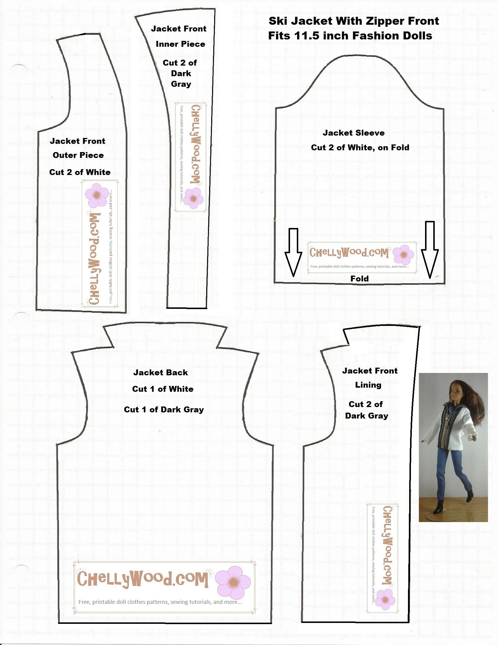 Doll Clothes Patterns | Chelly Wood | Patterns | Barbie Sewing - Free Printable Patterns For Sewing Doll Clothes