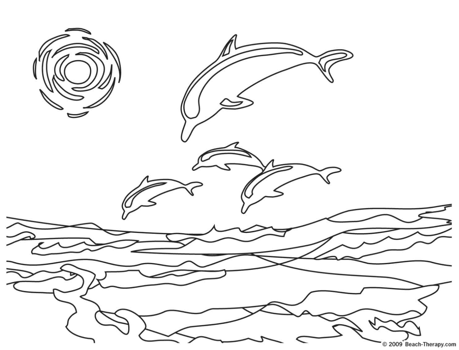 Dolphins For Children - Dolphins Kids Coloring Pages - Dolphin Coloring Sheets Free Printable
