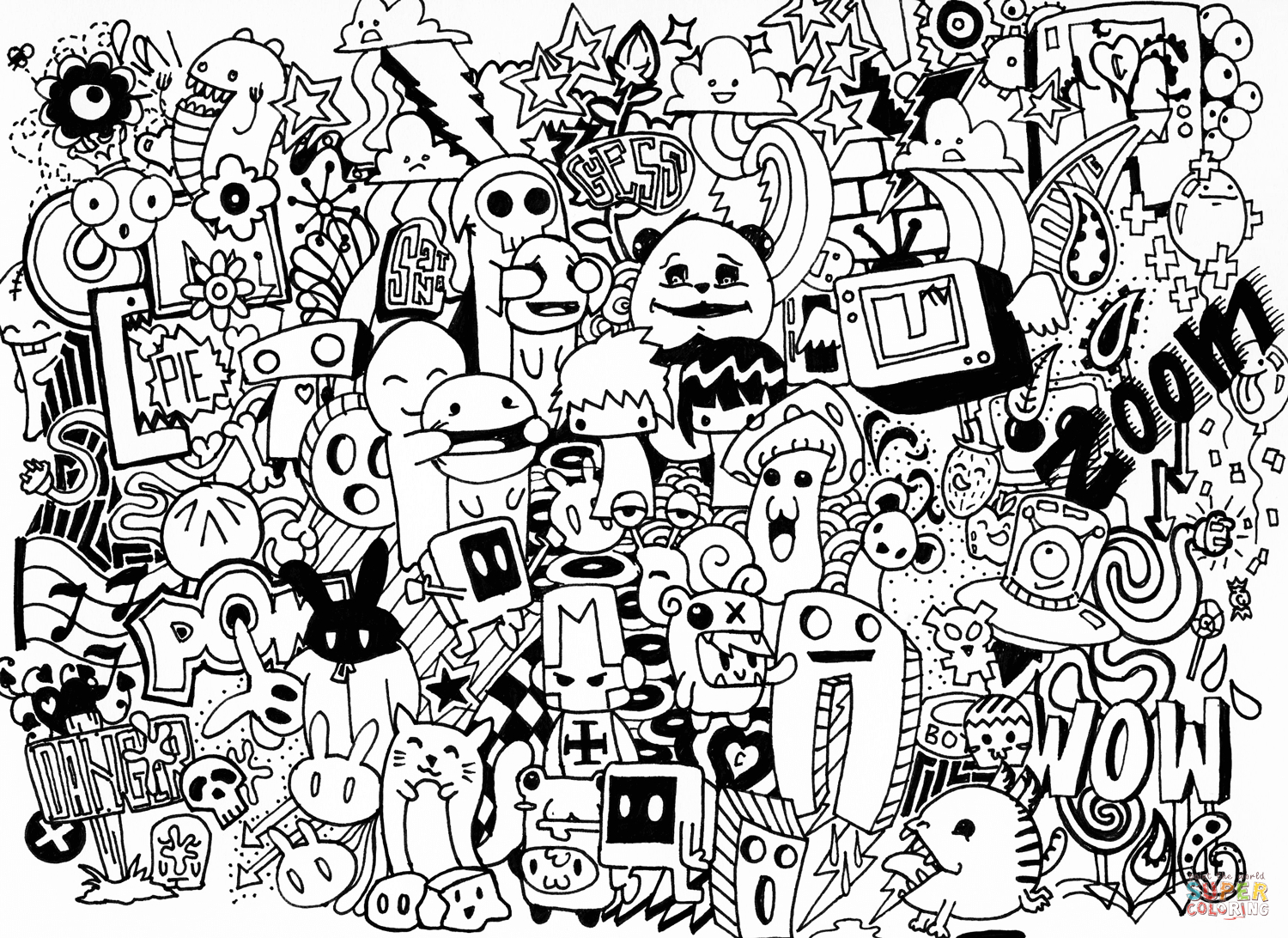 Doodle Collab Coloring Page | Free Printable Coloring Pages - Free Printable Doodle Patterns