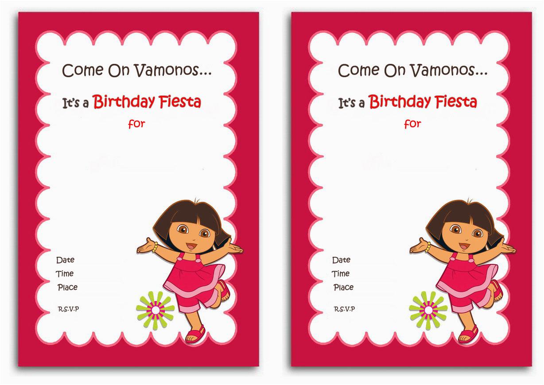 Dora Birthday Cards Free Printable | Birthdaybuzz - Dora Birthday Cards Free Printable