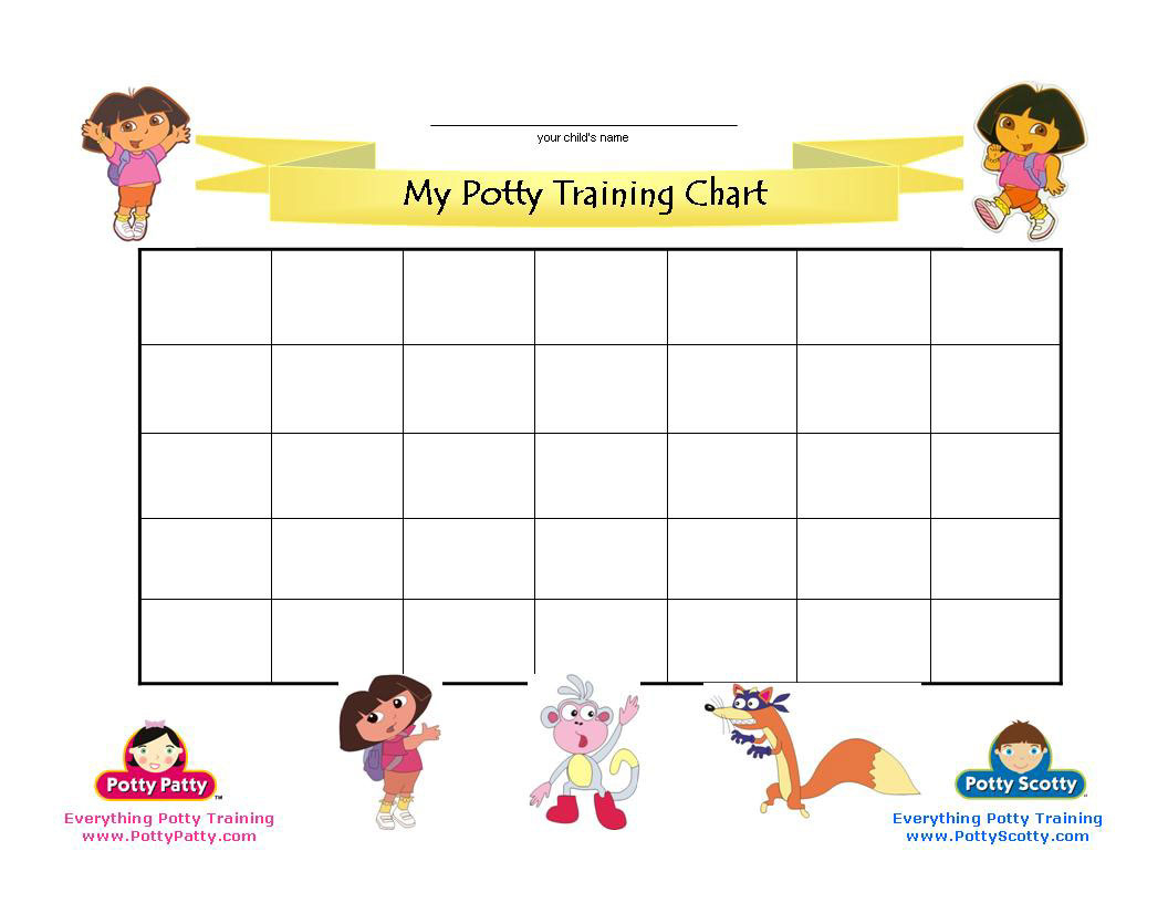 Dora The Explorer Potty Training Chart | Potty Training Concepts - Free Printable Potty Charts