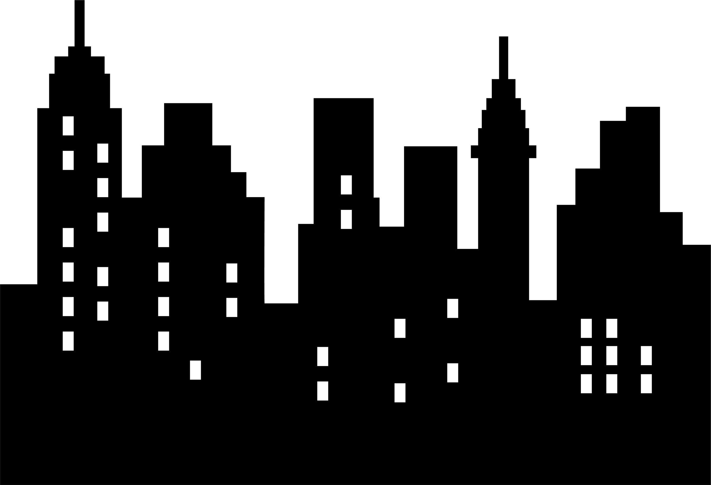 Download 2,400×1,639 Pixels | Superhero Party In 2018 | Pinterest - Free Printable Superhero Skyline