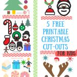 Download Christmas Cutout Greeting Cards. Glam Glitter Christmas – Free Printable Christmas Cutouts