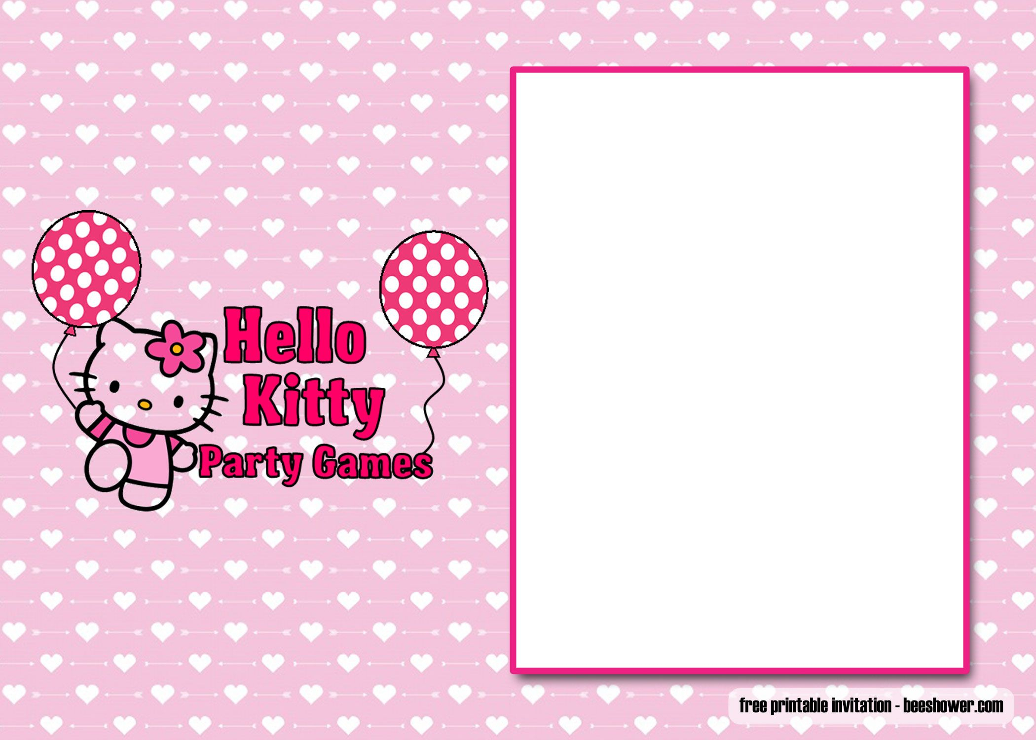 Download Free Perfect Hello Kitty Baby Shower Invitations - Free Printable Hello Kitty Baby Shower Invitations