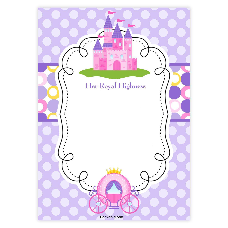 Download Free Princess Birthday Invitations | Invites - Free Princess Printable Invitations