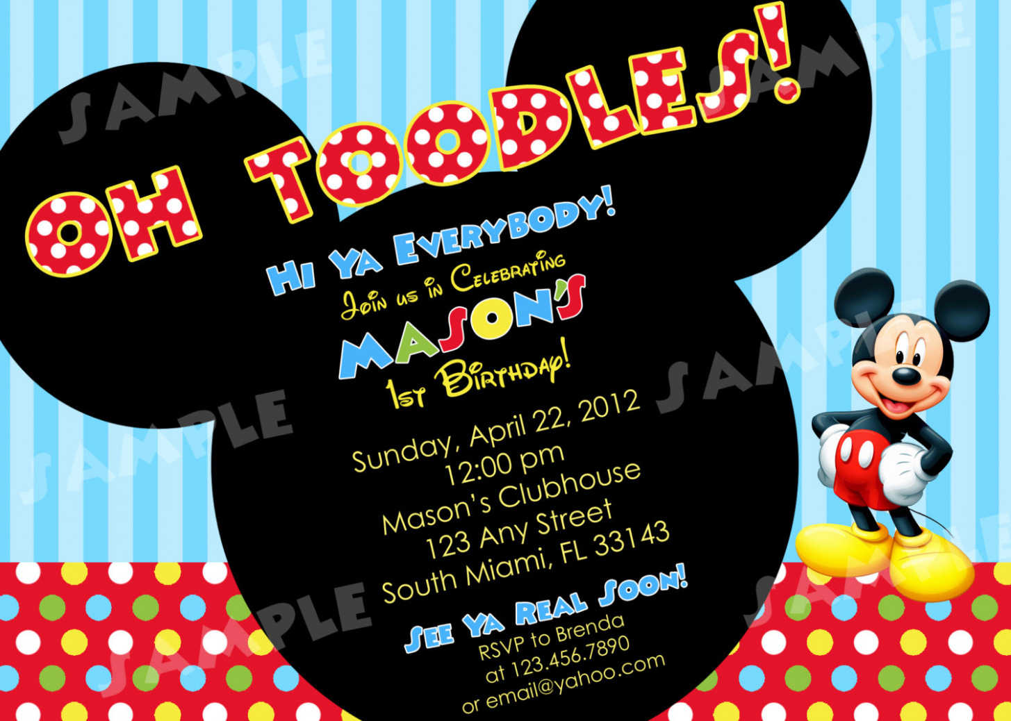 Download Free Printable Mickey Mouse Invitatons Birthday – Top - Free Printable Mickey Mouse Birthday Invitations