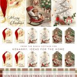 Download Free Printable Vintage Christmas Gift Tags For Holiday Wrapping   Free Printable Xmas Cards Download