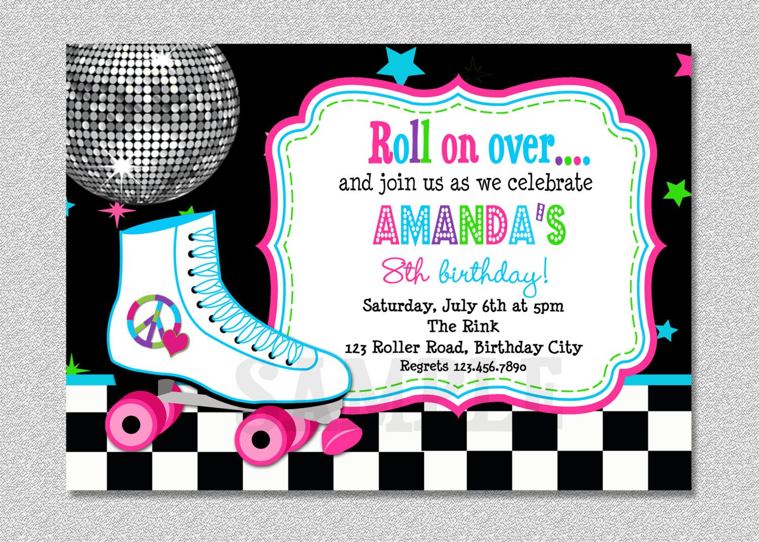 Download Free Template Free Printable Roller Skating Birthday Party - Free Printable Roller Skate Template