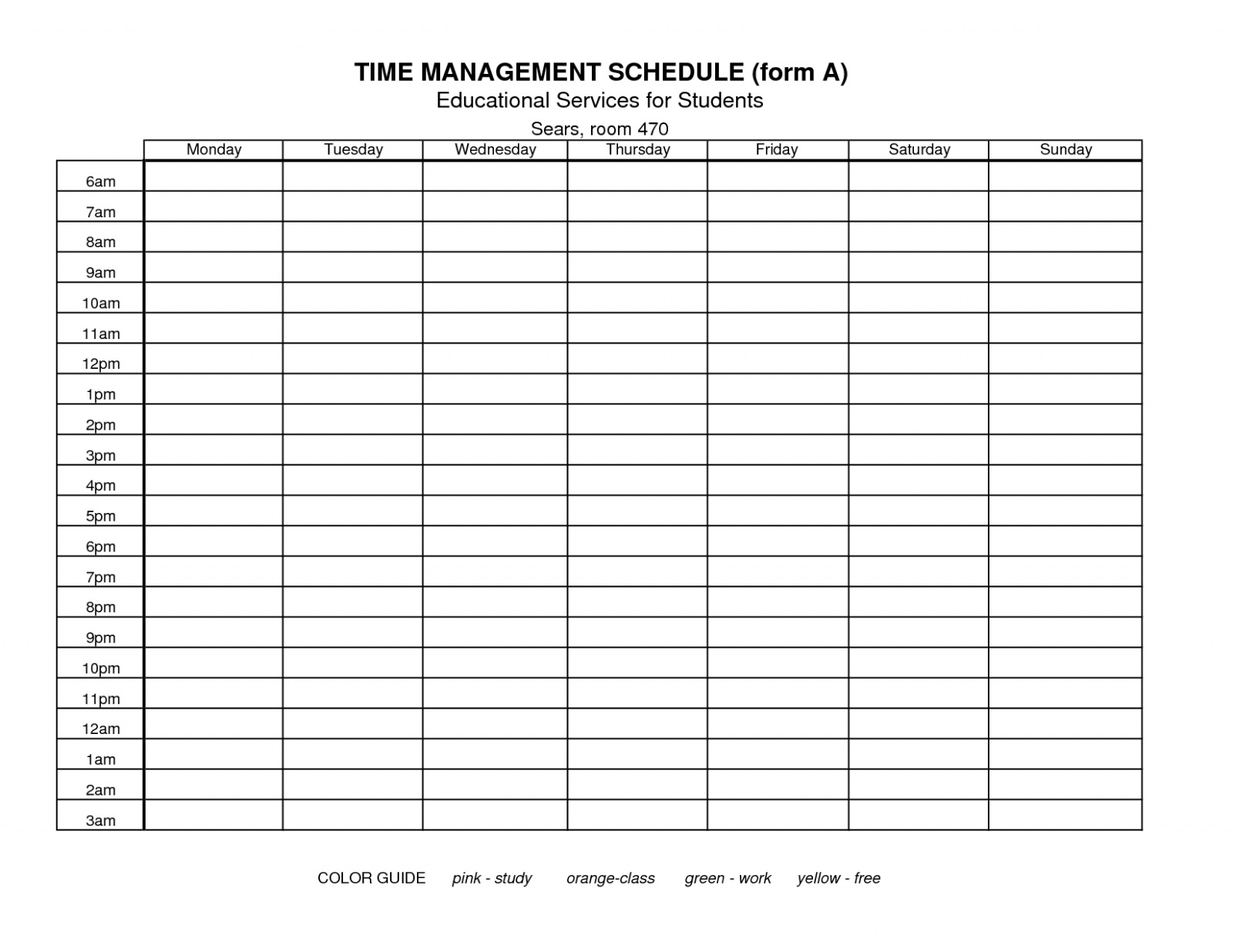 Download Our Sample Of 7 Best Of Free Printable Time Management - Time Management Forms Free Printable