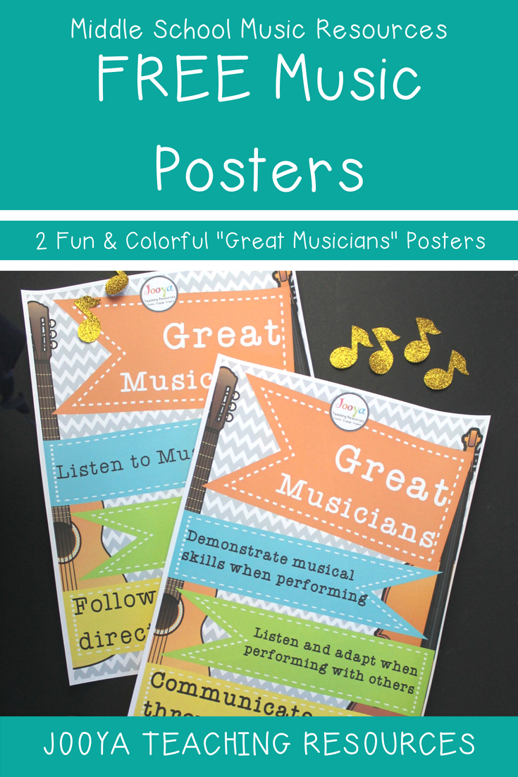 Download These Free Music Classroom Posters Today! Inspire Young - Free Printable Music Posters
