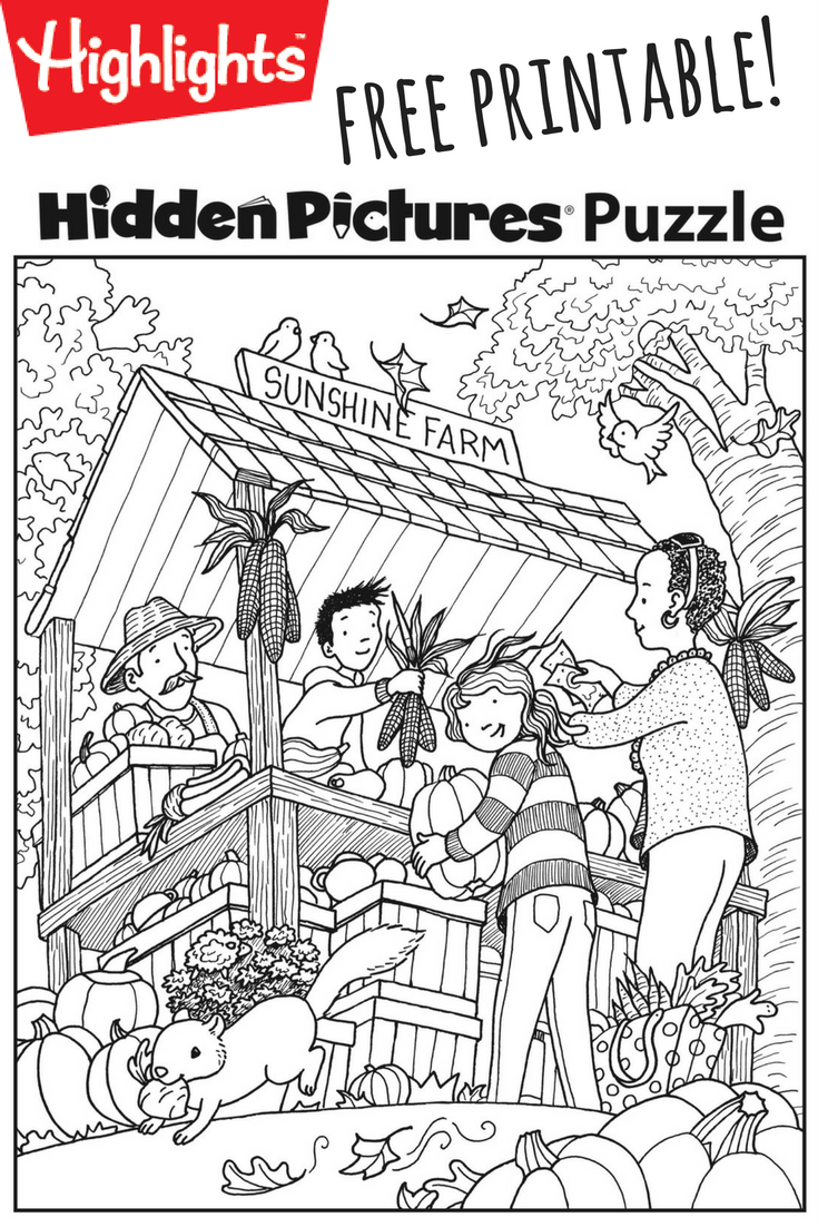 Download This Festive Fall Free Printable Hidden Pictures Puzzle To - Free Printable Highlights Hidden Pictures