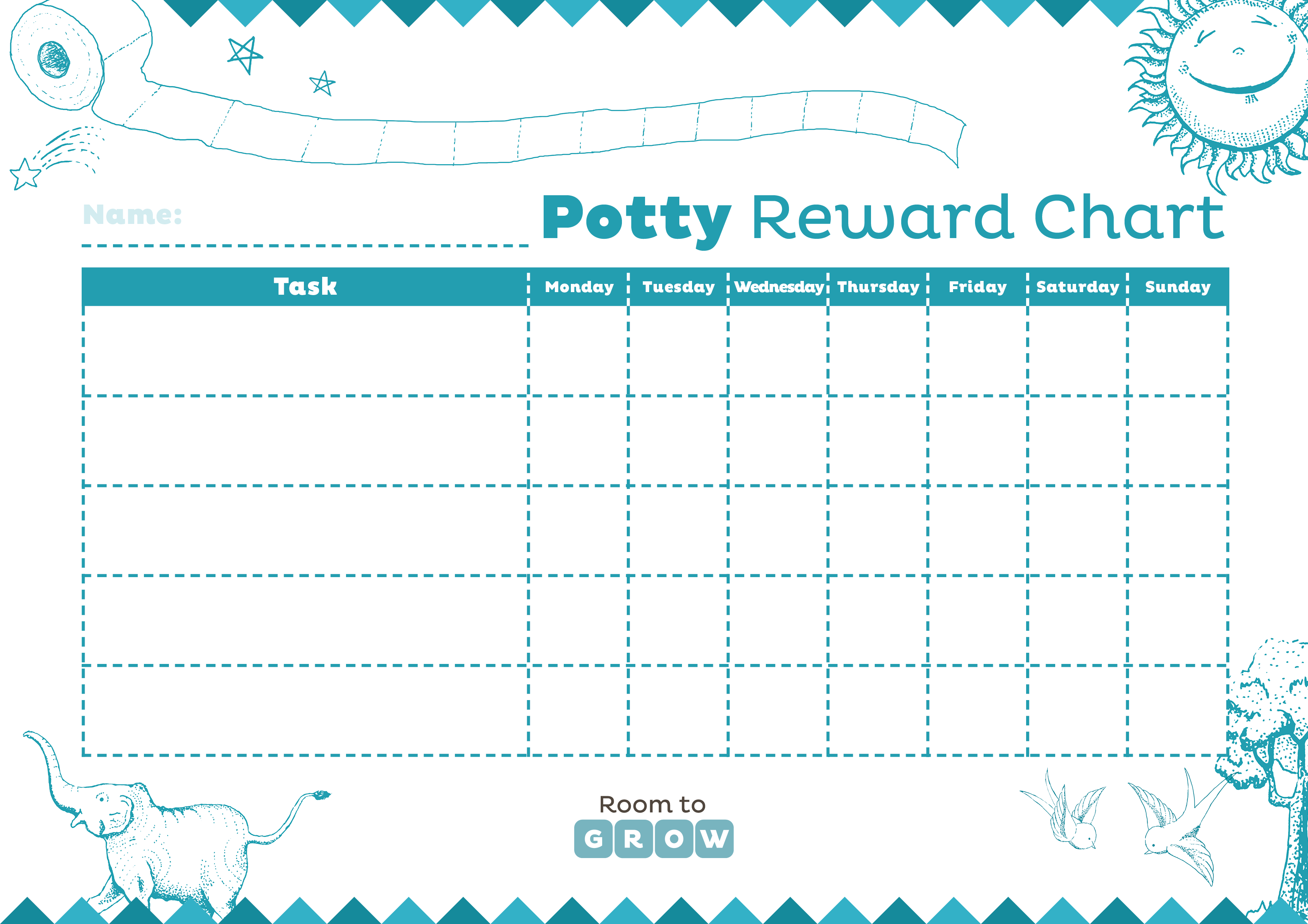 Download Your Free Printable Charts | Room To Grow - Free Printable Charts