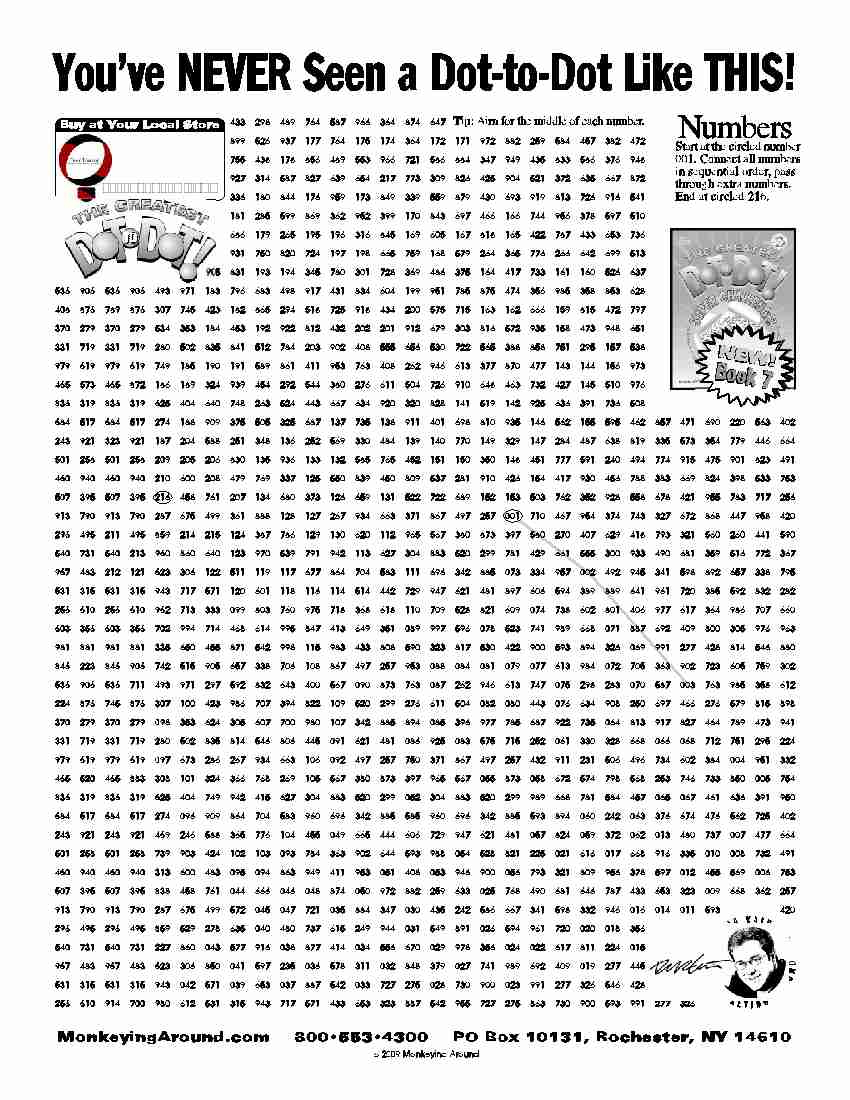 Downloadable Dot-To-Dot Puzzles - Free Printable Difficult Dot To Dot Puzzles