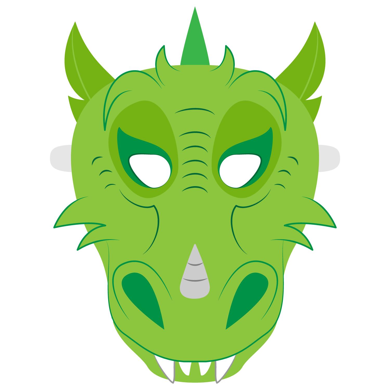 Dragon Mask Template   Free Printable Papercraft Templates - Dragon Mask Printable Free
