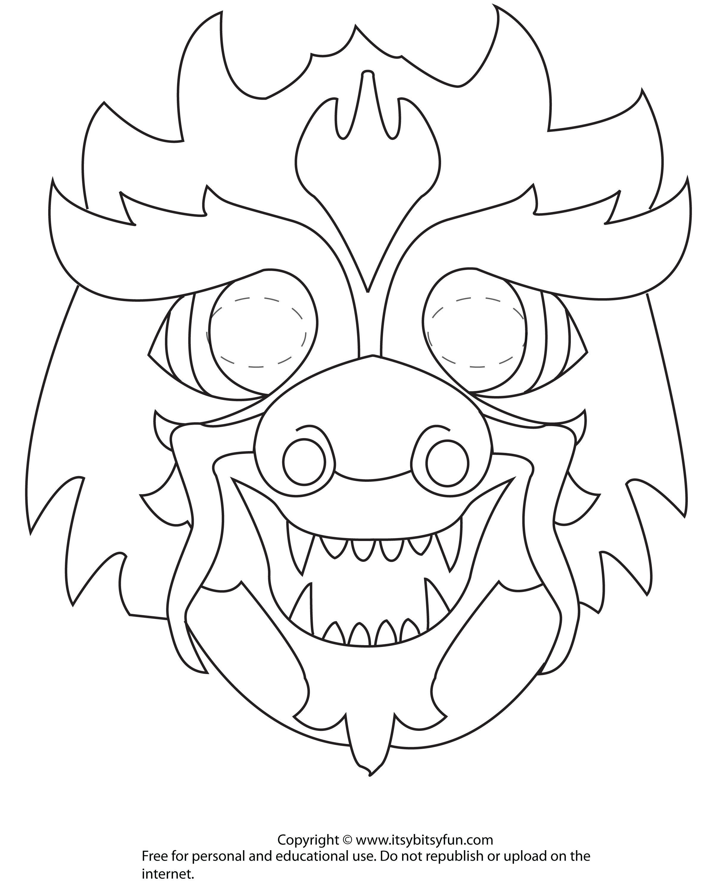 Dragon Mask To Color | Z Girl Scouts Chinese New Year Celebration - Dragon Mask Printable Free