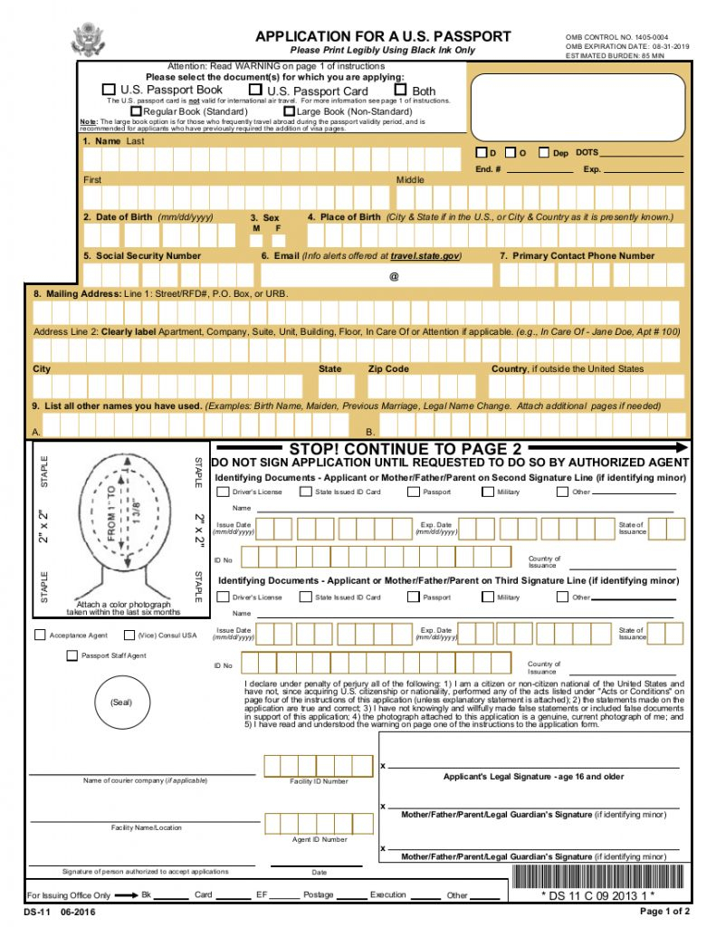 Ds11 Form - Nurufunicaasl Within Free Printable Ds 11 | Free Printable - Free Printable Ds 11