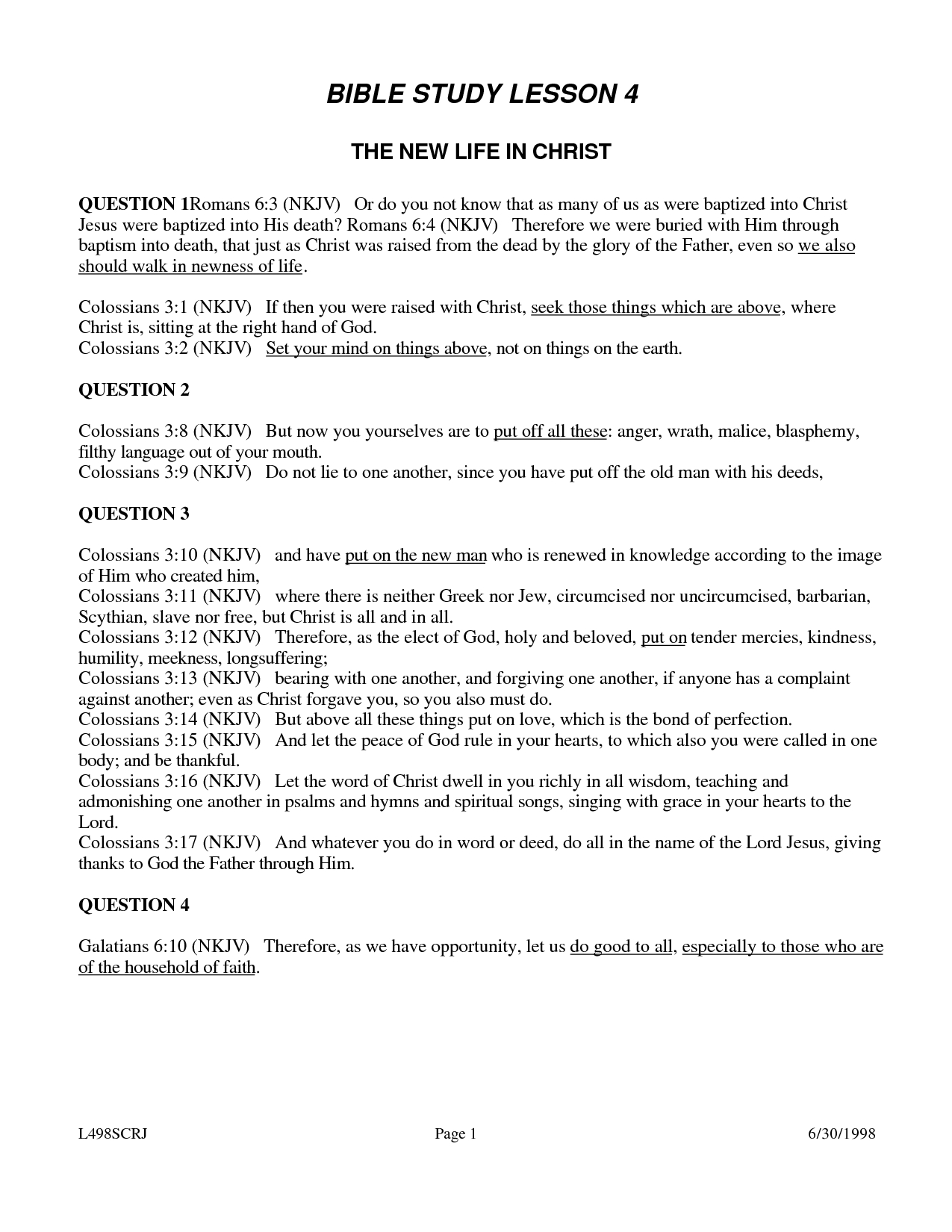 √ 6 Best Images Of Printable Youth Bible Worksheets - Free Printable Sunday School Lessons For Youth