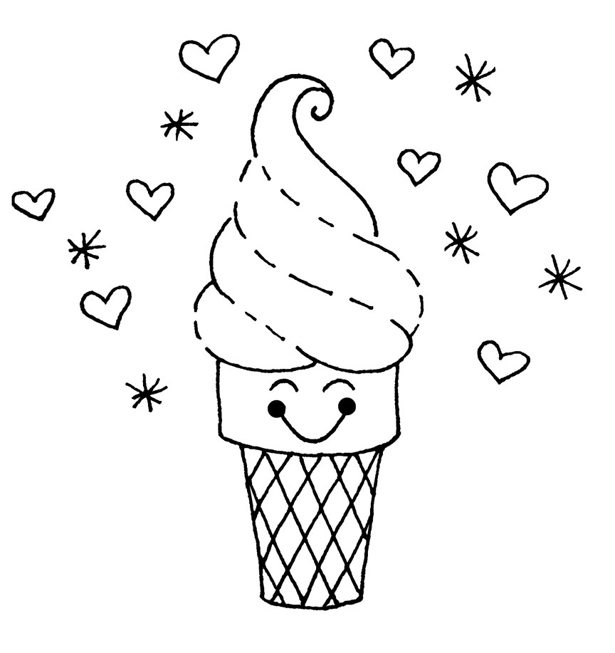 √ Free Printable Ice Cream Coloring Pages For Kids - Ice Cream Color Pages Printable Free