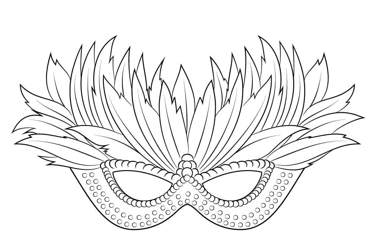 √ Free Printable Mardi Gras Coloring Pages - Free Printable Mardi Gras Masks
