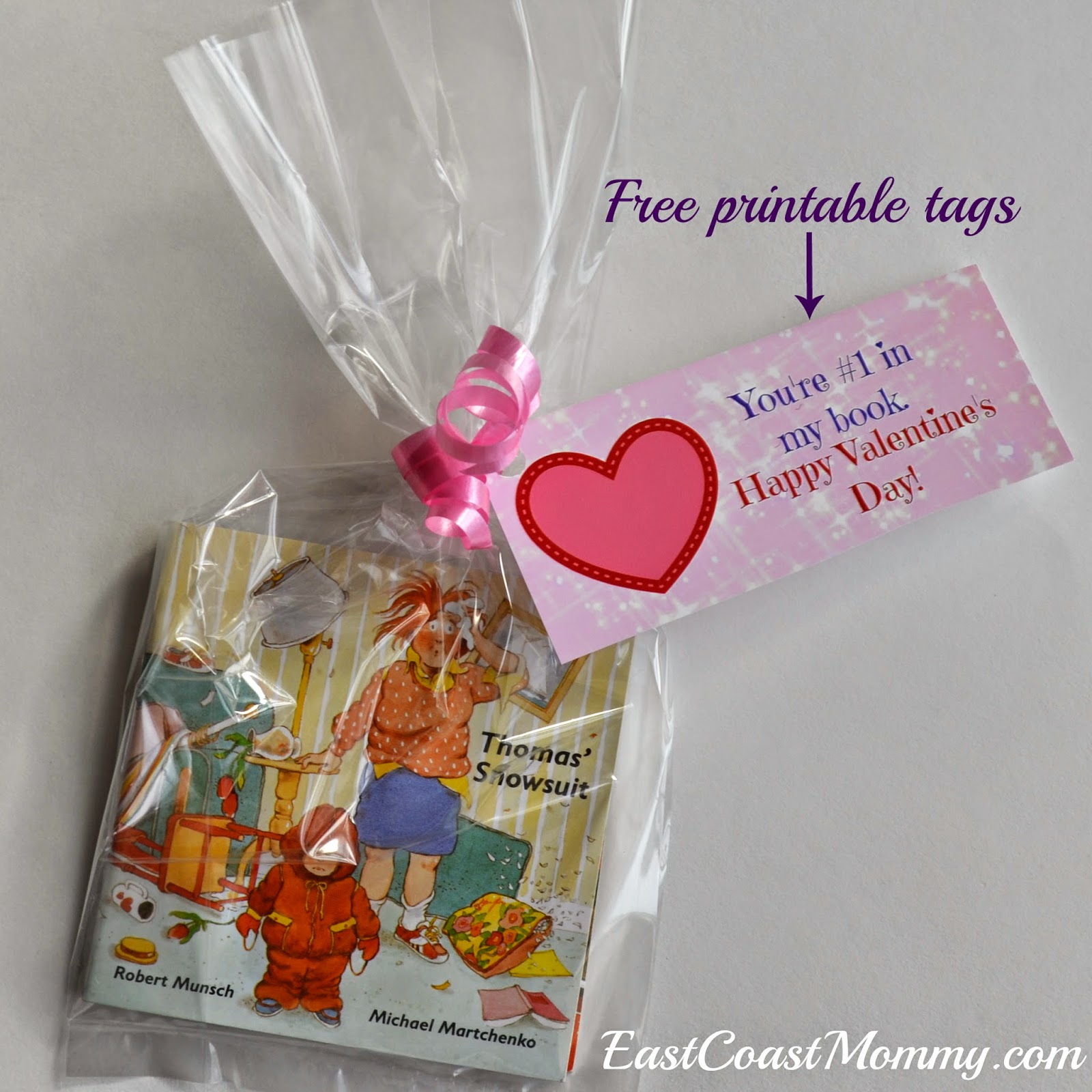 East Coast Mommy: Book Valentine {With Free Printable Tags} - Free Printable Valentine Books