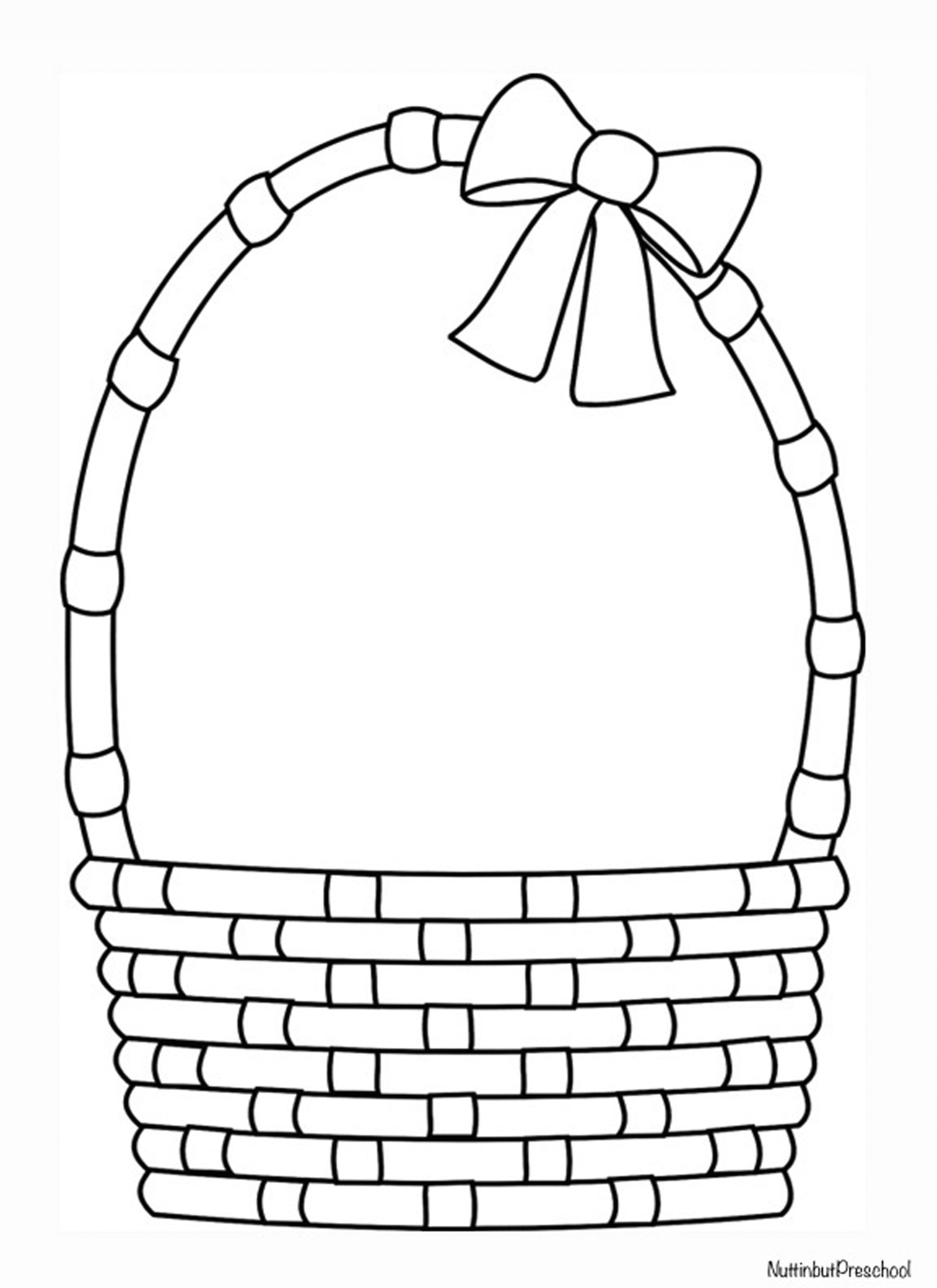 Easter Basket Coloring Pages Awesome Empty Fruit Collection - Free Printable Coloring Pages Easter Basket