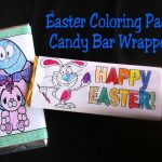 Easter Coloring Page Candy Bar Wrapper Free Printable | Free   Free Printable Birthday Candy Bar Wrappers