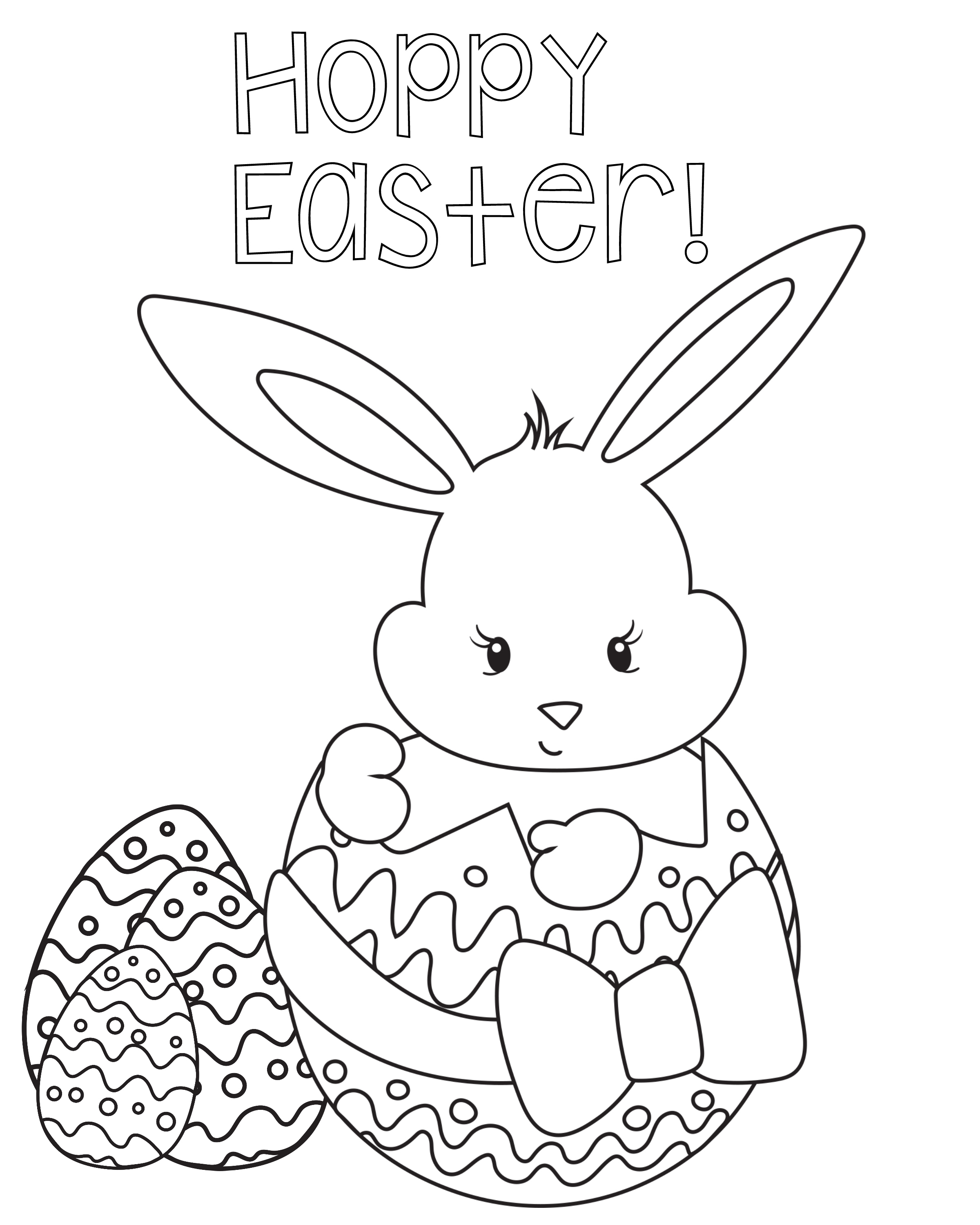 Easter Coloring Pages For Kids - Crazy Little Projects - Easter Color Pages Free Printable
