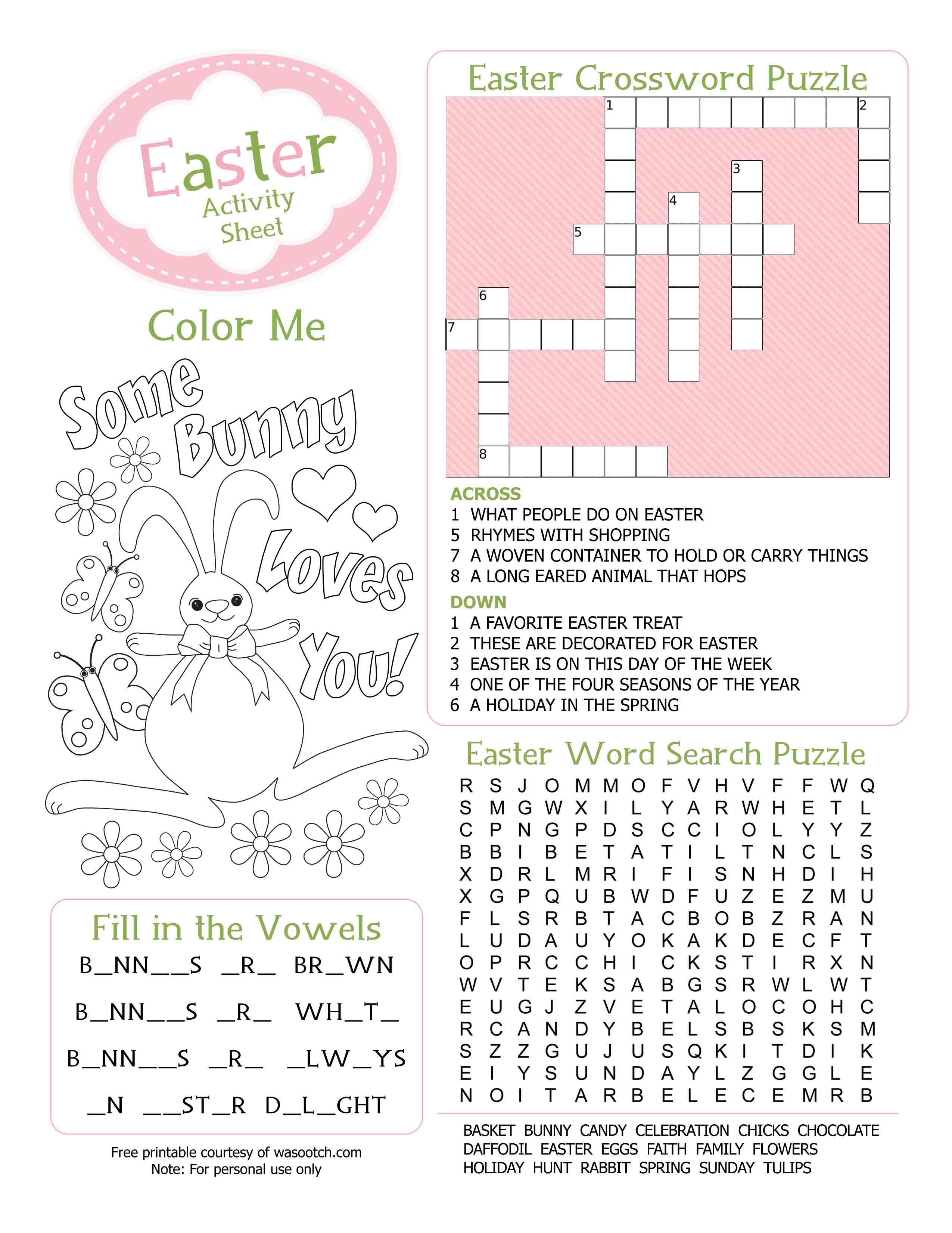 Easter Kid's Activity Sheet Free Printables Available @party - Easter Games For Adults Printable Free