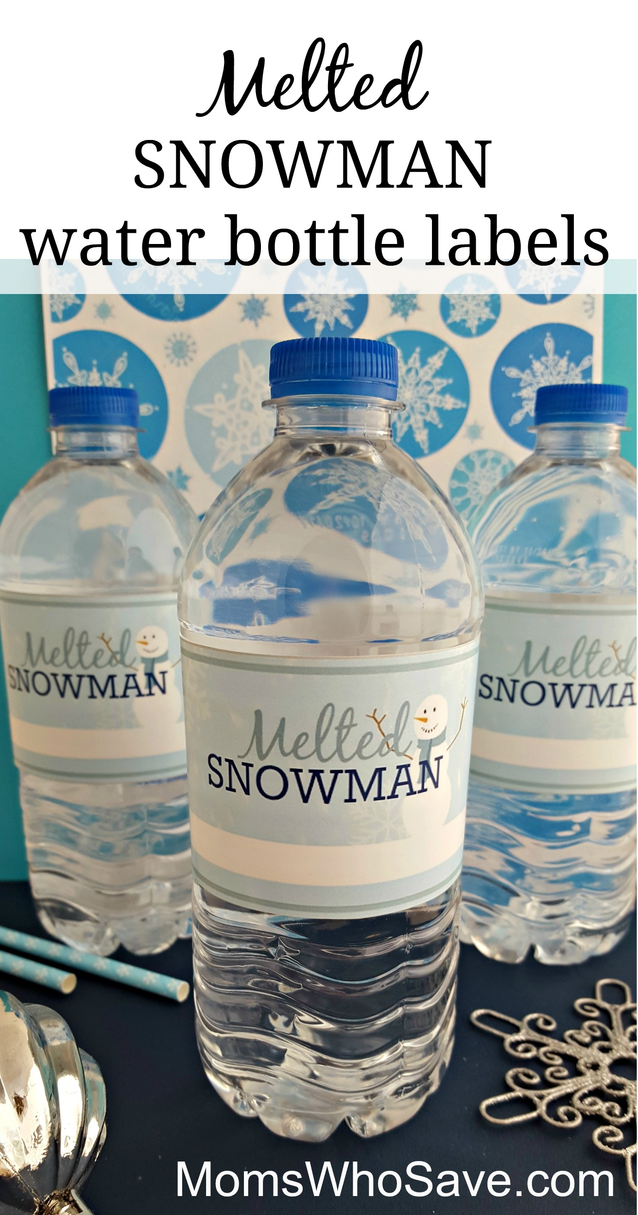 Easy Diy -- Free Printable Melted Snowman Water Bottle Labels - Christmas Water Bottle Labels Free Printable