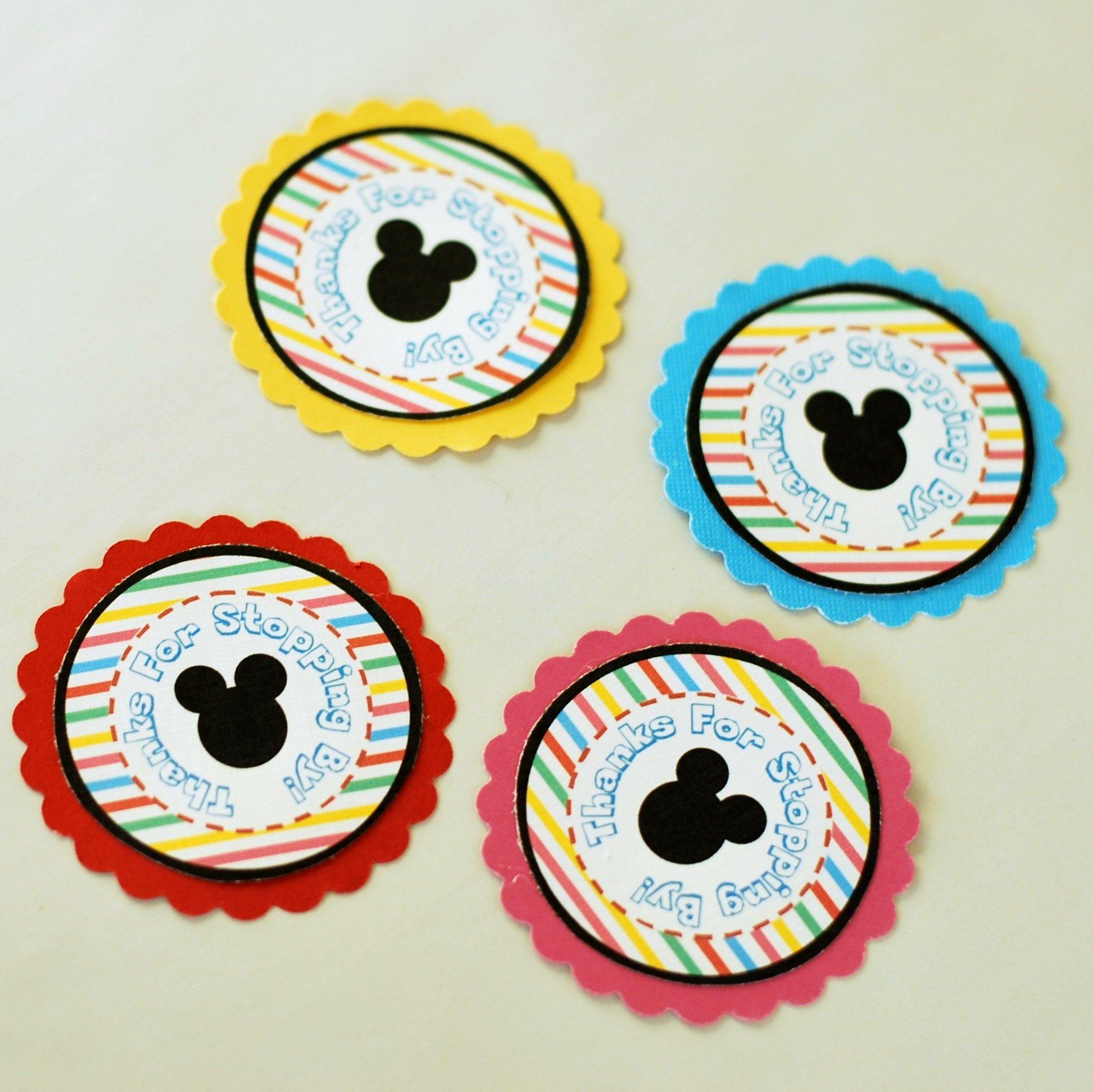 Easy Favor Ideas + Mickey & Minnie Favor Printables   Disney Make - Free Printable Mickey Mouse Favor Tags