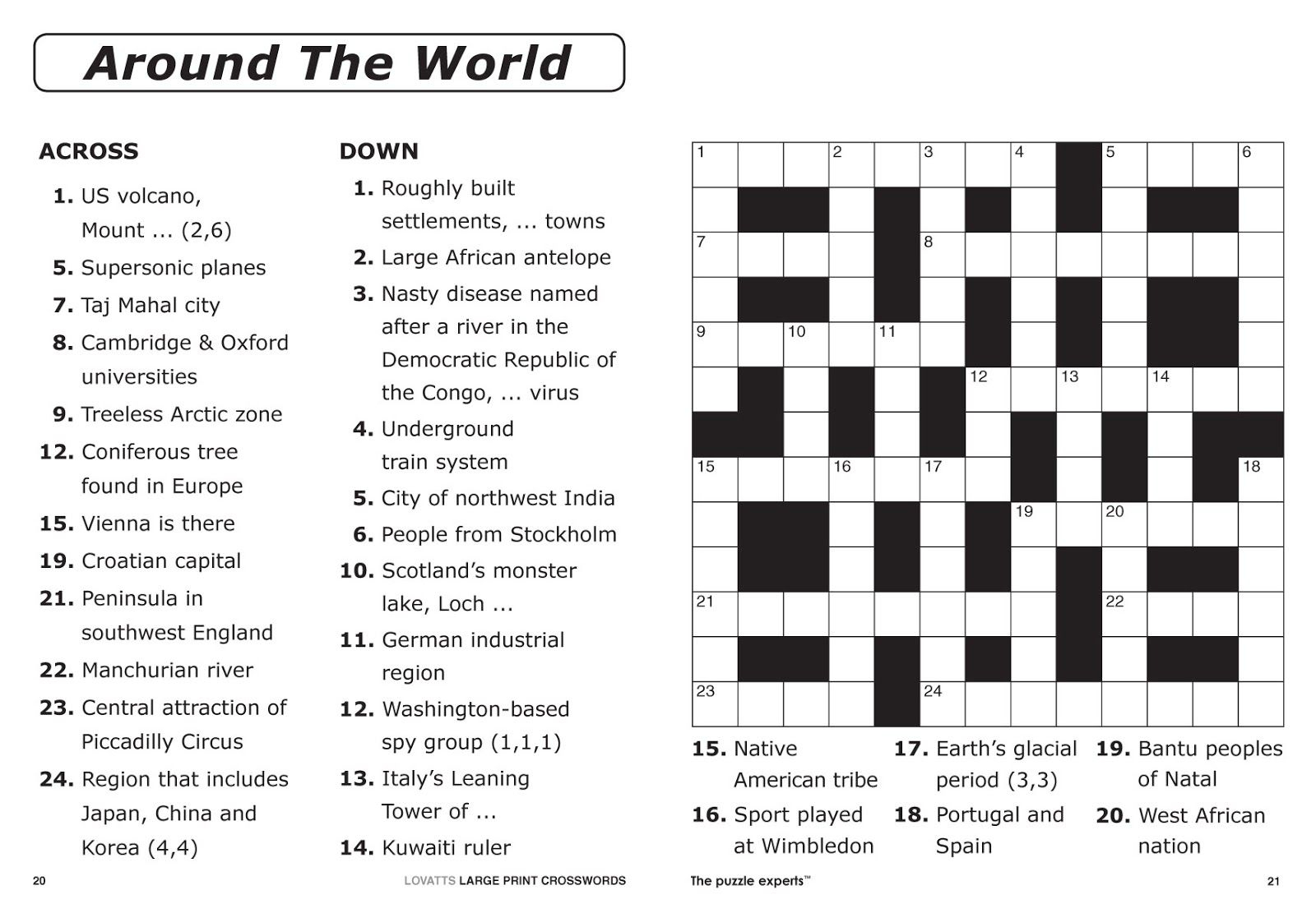 Easy Printable Crossword Puzzles | Elder Care & Dementia Care - Printable Newspaper Crossword Puzzles For Free