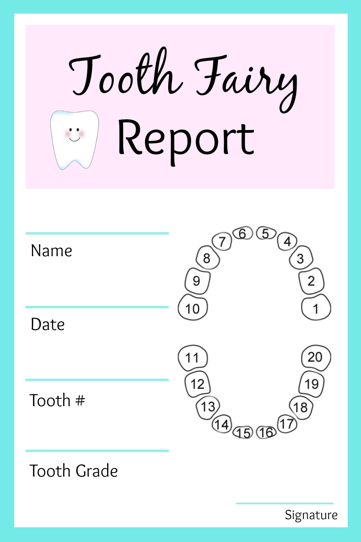 Easy Tooth Fairy Ideas & Tips For Parents / Free Printables - Free Printable Tooth Fairy Pictures