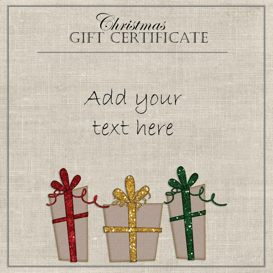 Editable And Printable Silver Swirls Gift Certificate Template Free - Free Printable Christmas Gift Voucher Templates