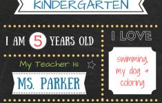 Free Printable First Day Of School Chalkboard Signs