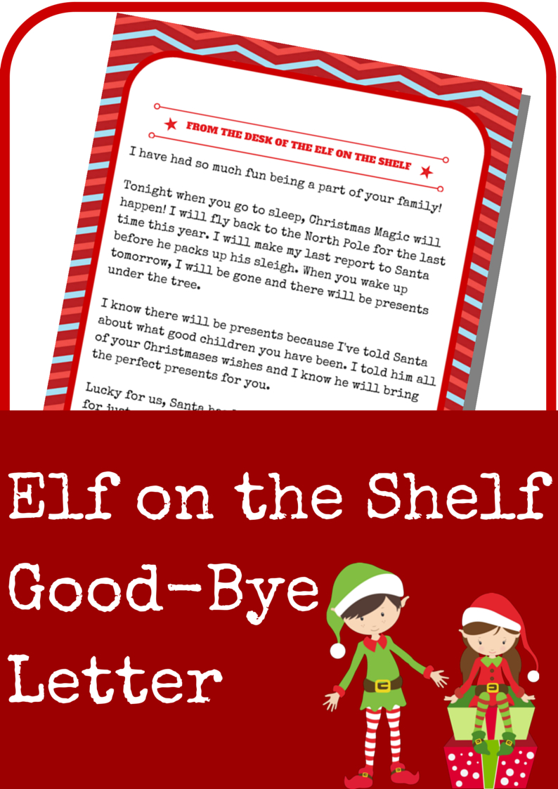 Elf On The Shelf Good-Bye Letter | Elf On The Shelf Ideas | Elf On - Elf On A Shelf Goodbye Letter Free Printable