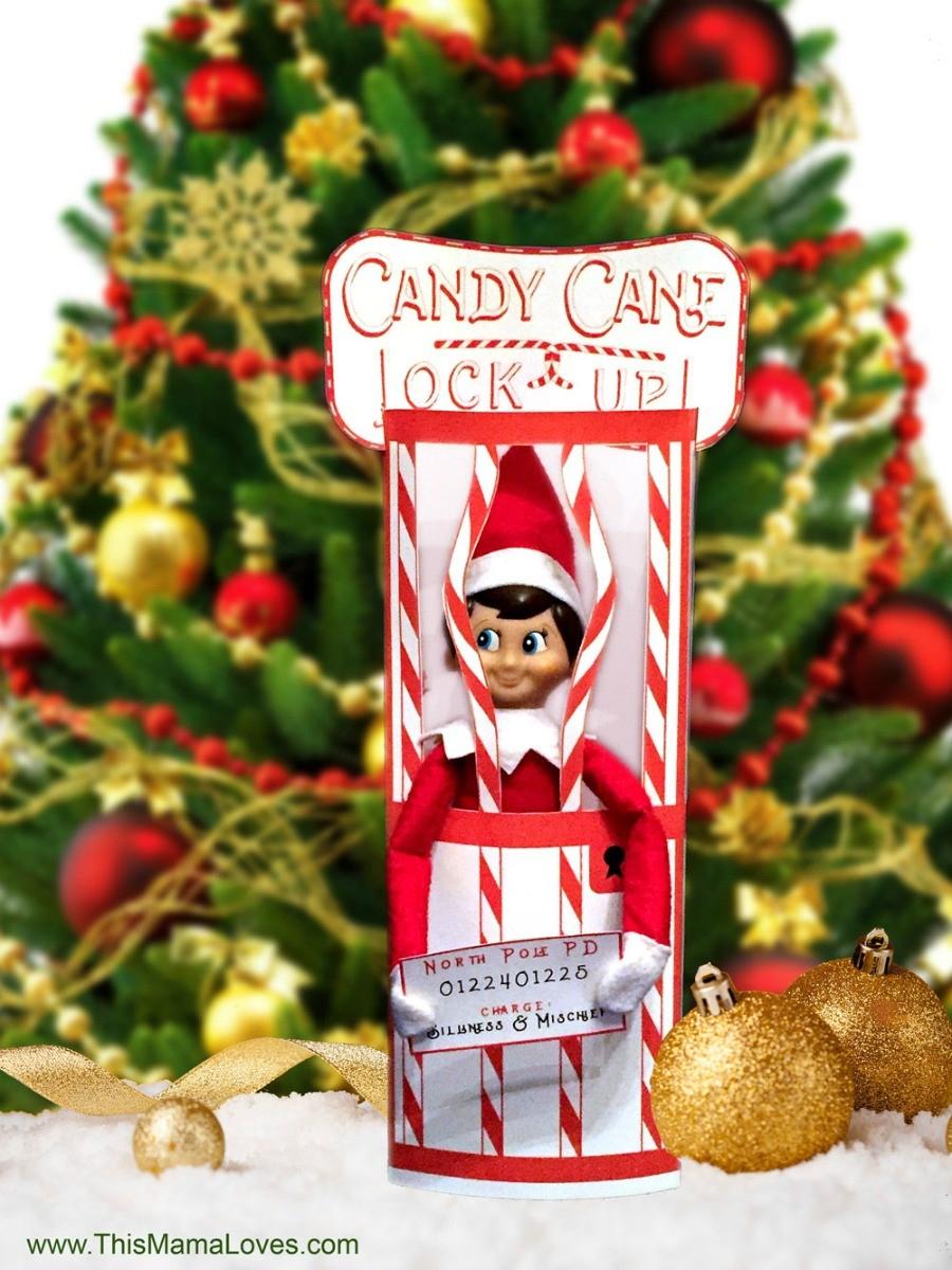 Elf On The Shelf Idea: Candy Cane Jail | This Mama Loves - Elf On The Shelf Free Printable Ideas