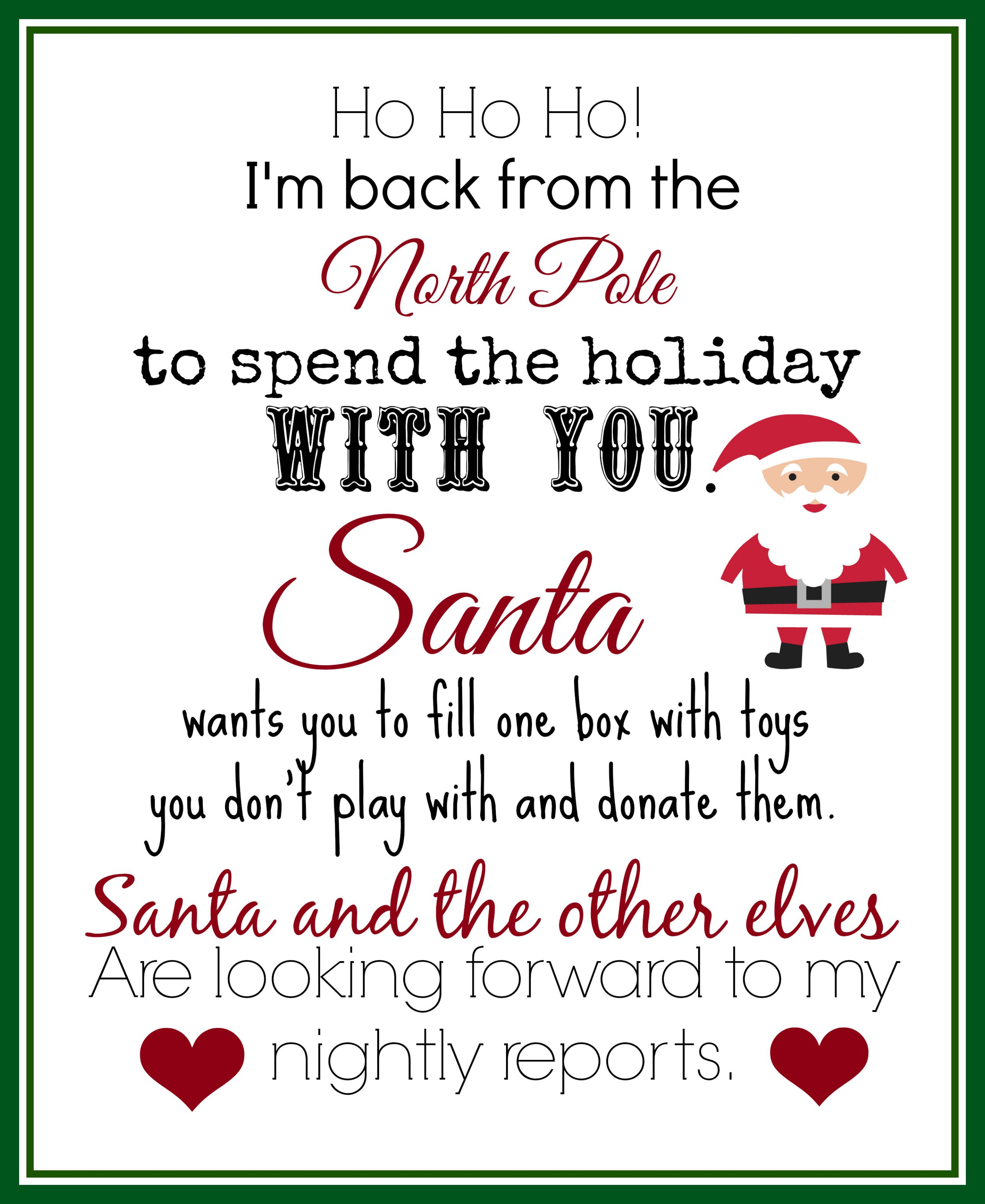 Elf On The Shelf Ideas For Arrival: 10 Free Printables | Elf On The - Free Printable Elf Pattern