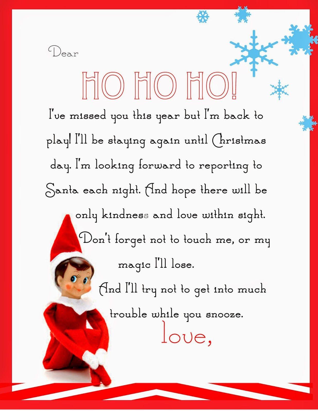 Elf On The Shelf Letter {Free Printable}   Para Las Muñecas - Elf On The Shelf Goodbye Letter Free Printable